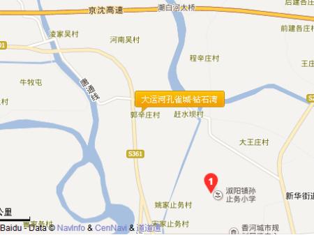 北京大运河孔雀城·钻石湾交通图