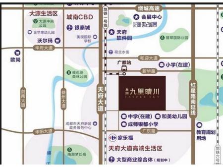 成都龙湖九里晴川交通图