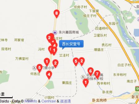 北京西长安壹号交通图