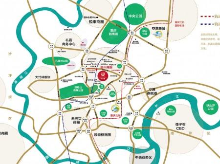 重庆建工依山郡交通图