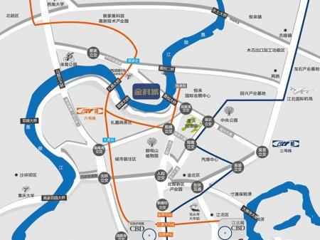 重庆金科城交通图