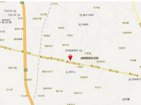 成都碧桂园海昌天澜交通图