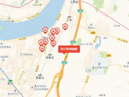 重庆和记黄埔御峰交通图