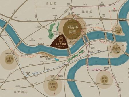重庆国美江天御府交通图