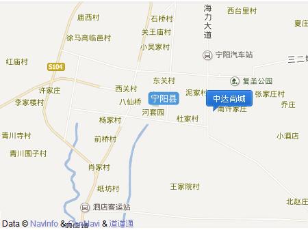 泰安中达尚城交通图