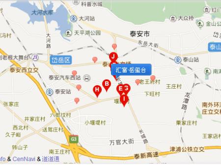 泰安汇富·岳玺台交通图