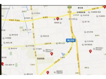泰州鹏欣领誉交通图