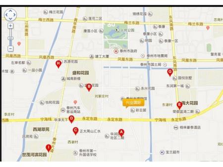 泰州兴业国际交通图