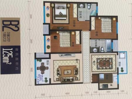 出售红星寺河嘉苑3室2厅2卫 125平米 66.2万