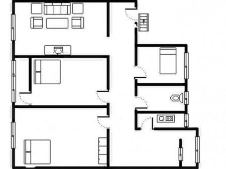 出售南湖新苑3室 2厅 2卫 106㎡ 精装 50万 地段好