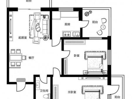 香坊区王兆街65号 2室2厅1卫 137㎡ 毛坯新房急售