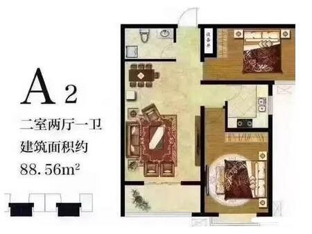 出售紫金佳苑 2室2厅1卫 107㎡ 毛坯 28万