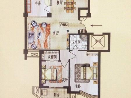 丽晶港湾 3室2厅2卫 129平米