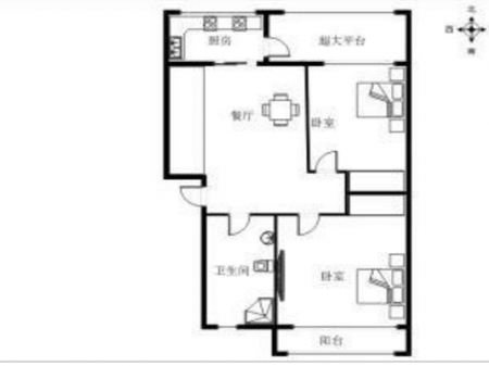 东方红家园 2室2厅1卫 73平米精装拎包即住