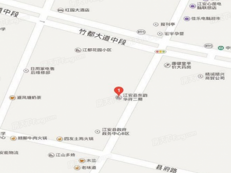 东韵华府二期交通图